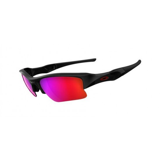 Oakley Flak Jacket Xlj OO 9009 26 220 Polarizzato Polishid Black
