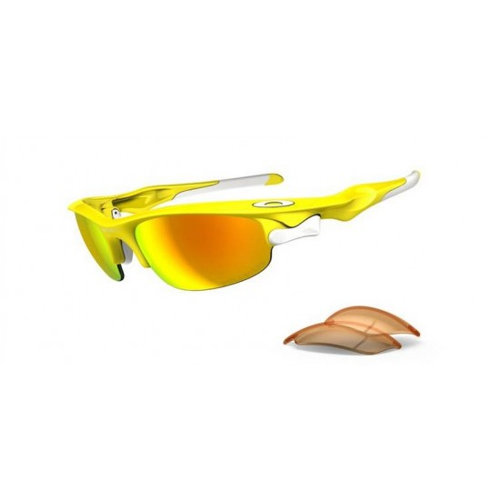 Oakley Fast Jacket OO 9097 08 Polarizzato Lemon Peel