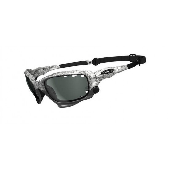 Oakley Racing Jacket OO 9171 Photochromatic 06 Polished White Blk Ghost Text