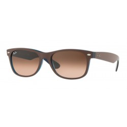 Ray-Ban RB 2132 New Wayfarer 6310A5 Choccolat Opaco Su Blu Opale