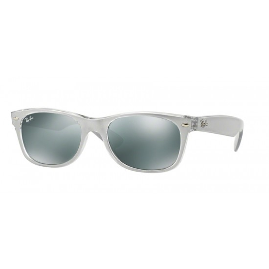 Ray-Ban RB 2132 NEW WAYFARER 614440 TOP BRUSHED SILVER ON TRANSP