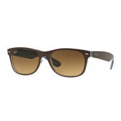 Ray-Ban RB 2132 New Wayfarer 618985 Top Mt Cioccolato Su Blu