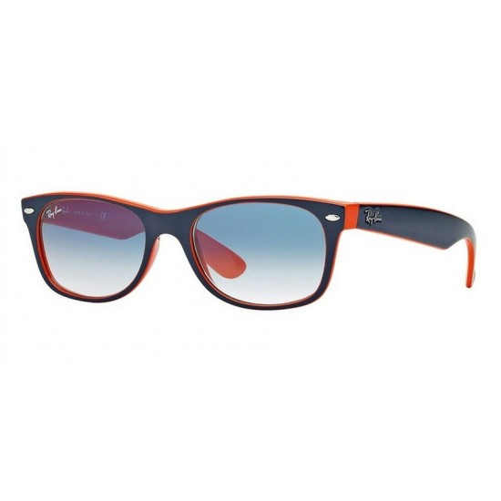 Ray-Ban RB 2132 New Wayfarer 789/3F In Alto Blu-arancione