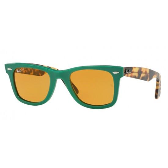 Ray-Ban RB 2140 Wayfarer 1240N9 Verde | Occhiale Da Sole Unisex