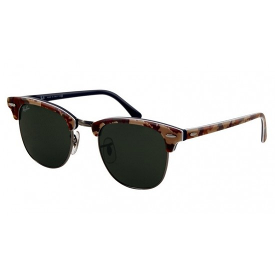 Ray-Ban RB 3016 1069 Clubmaster Mimetico Verde Blu Argento
