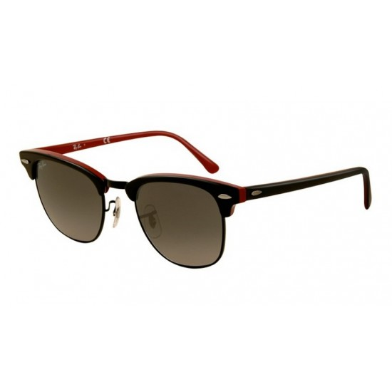 Ray-Ban RB 3016 1103-71 Clubmaster Nero Rosso