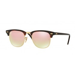 Ray-Ban RB 3016 Clubmaster 990/7O Rosso Lucido / Avana