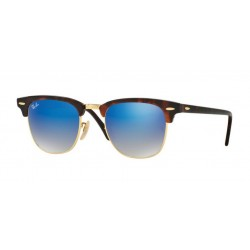 Ray-Ban RB 3016 Clubmaster 990/7Q Rosso Lucido / Avana