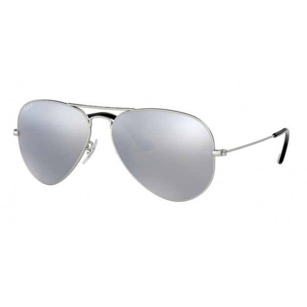 Ray-Ban RB 3025 Aviator Large Metal 019/W3 Argento Opaco