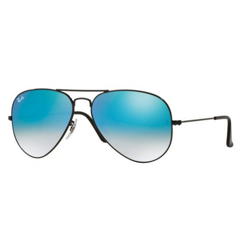 Ray ban rb 3025 002 4o aviator large metal nero - Ray ban aviator lenti a specchio ...