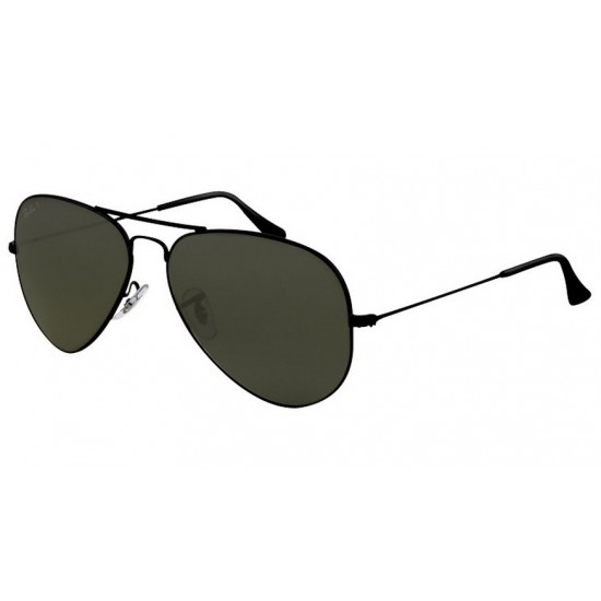 Ray-Ban RB 3025 Aviator Large Metal 002/58 Nero | Occhiale Da Sole Uomo