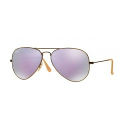 Ray-Ban RB 3025 Aviator Large Metal 167/1R Demishiny Di Bronzo Spazzolato