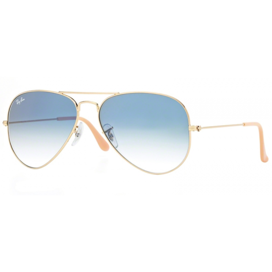 Ray-Ban RB 3025 Aviator Large Metal 001/3F Oro | Occhiale Da Sole Uomo