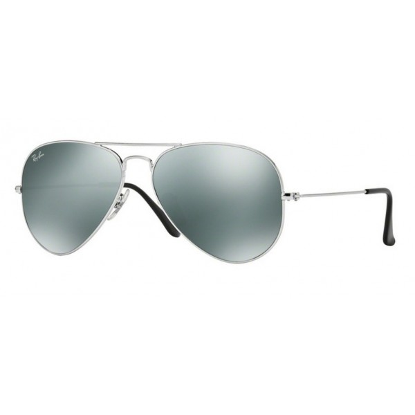 Ray-Ban RB 3025 W3277 Aviator Large Metal Argento
