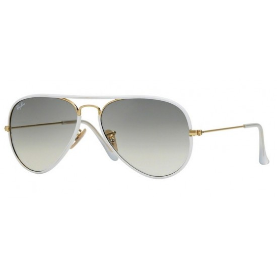 Ray-Ban RB 3025Jm 146-32 Aviator Full Color Oro Lucido Bianco