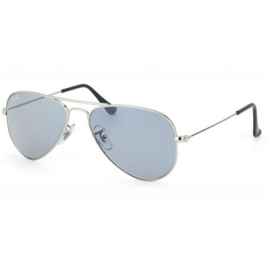 Ray-Ban RB 3044 W3177 Aviator Small Metal Argento