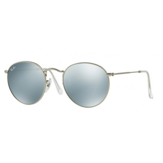Ray-Ban RB 3447 Round Metal 019/30 Argento Opaco