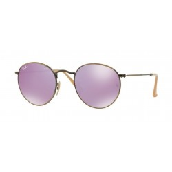 Ray-Ban RB 3447 Round Metal 167/4K Demiglos Bronzo Bruscato