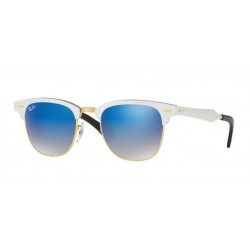 Ray-Ban RB 3507 Clubmaster Aluminum 137/7Q Argento Spazzolato