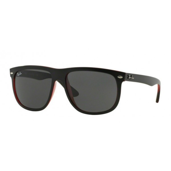 Ray-Ban RB 4147 Rb4147 617187 Top Mat Nero Su Trasp Rosso