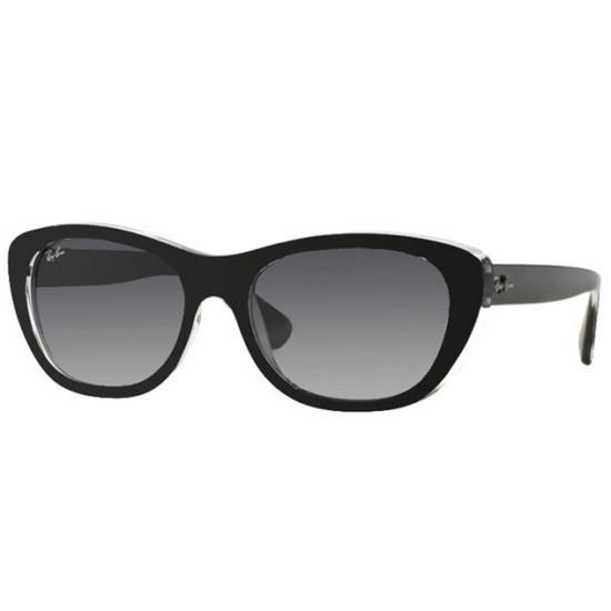 Ray-Ban RB 4227 - 60528G Top Nero Opaco Su Trasparente | Occhiale Da Sole Donna