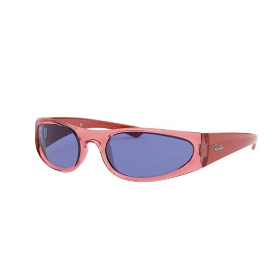 Ray-Ban RB 4332 - 648480 Rosso Chiaro Trasparente   Occhiale Da Sole Unisex