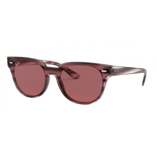 Ray-Ban RB 4368N Blaze Meteor 643175 Striped Havana Bordeaux | Occhiale Da Sole Unisex