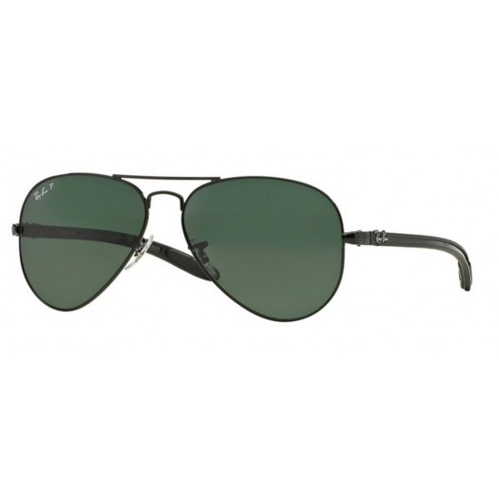 Ray-Ban RB 8307 002-N5 Aviator Carbon Fibre Polarizzato Nero