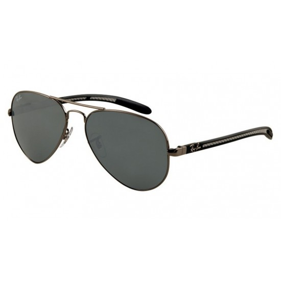 Ray-Ban RB 8307 004-40 Aviator Carbon Fibre Canna Di Fucile