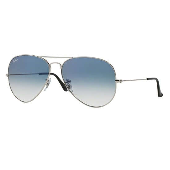 Ray-Ban RB 3025 Aviator Large Metal 003/3F Argento | Occhiale Da Sole Uomo