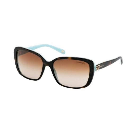 Tiffany TF 4092 - 81343B Havana / Blu | Occhiale Da Sole Donna