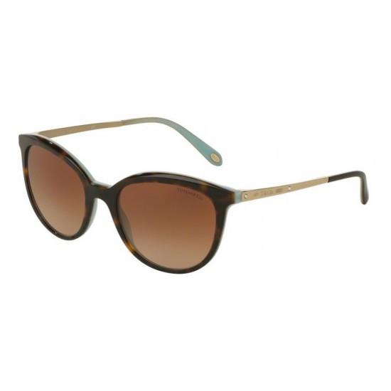 Tiffany TF 4117B - 81343B Havana / Blu | Occhiale Da Sole Donna