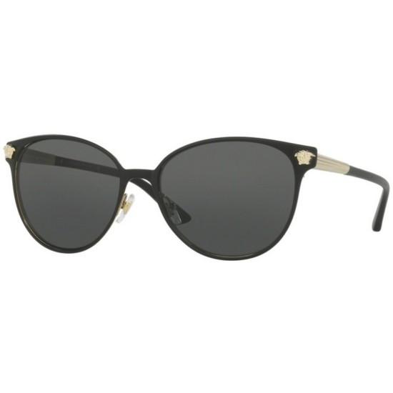 Versace VE 2168 - 137787 Nero Opaco / Oro Pallido | Occhiale Da Sole Donna