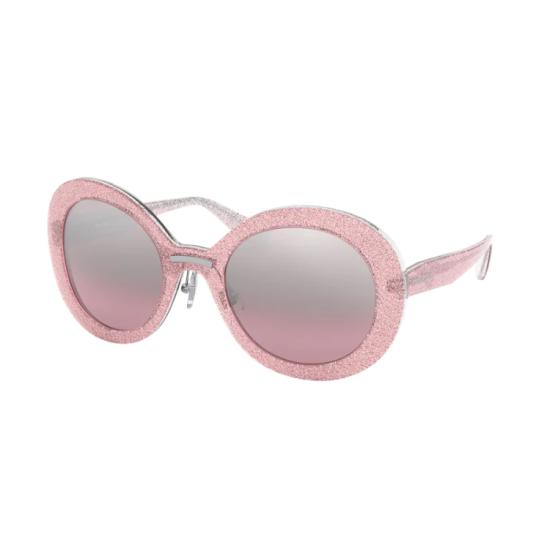 Miu Miu MU  04VS - 1467L1 Rosa Glitterato | Occhiale Da Sole Donna