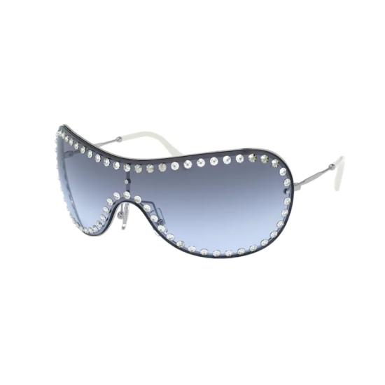 Miu Miu MU  51VS - 1BC4R2 Argento | Occhiale Da Sole Donna