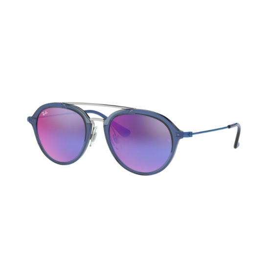 Ray-Ban Junior RJ 9065S - 7037B1 Blu Trasparente | Occhiale Da Sole Bambino Unisex