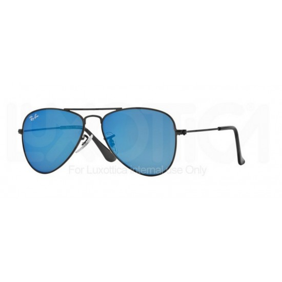 Ray-Ban Junior RJ 9506S Junior Aviator 201/55 Nero Opaco | Occhiale Da Sole Bambino Unisex