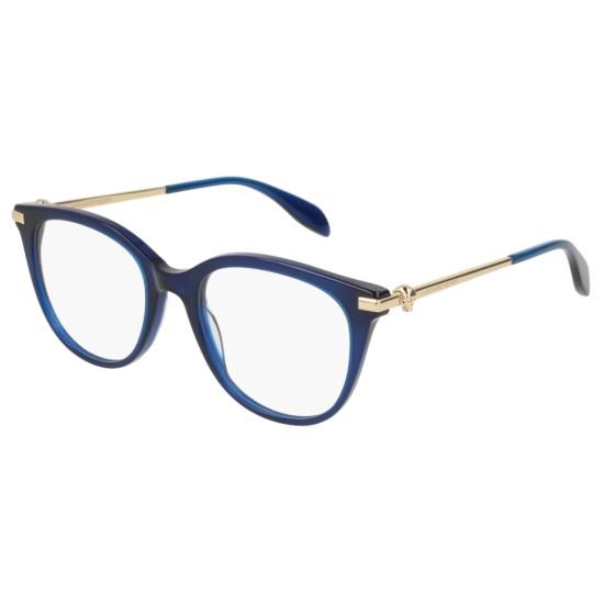 Alexander McQueen AM0154O - 004 Blu | Occhiale Da Vista Donna