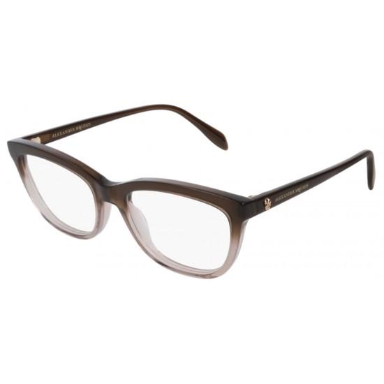 Alexander McQueen AM0161O - 003 Marrone | Occhiale Da Vista Donna