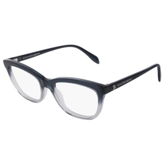 Alexander McQueen AM0161O - 004 Grigio | Occhiale Da Vista Donna