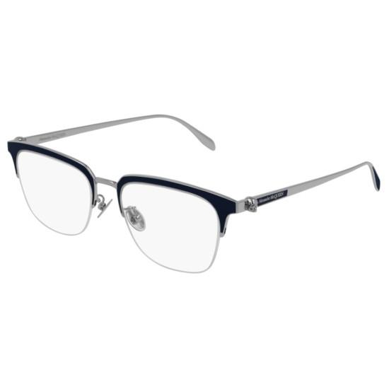 Alexander McQueen AM0215OA - 003 Argento | Occhiale Da Vista Uomo