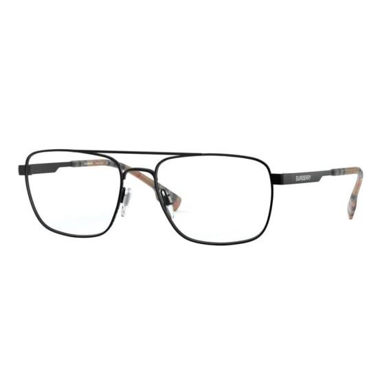Burberry BE 1340 - 1007 Nero Opaco | Occhiale Da Vista Uomo