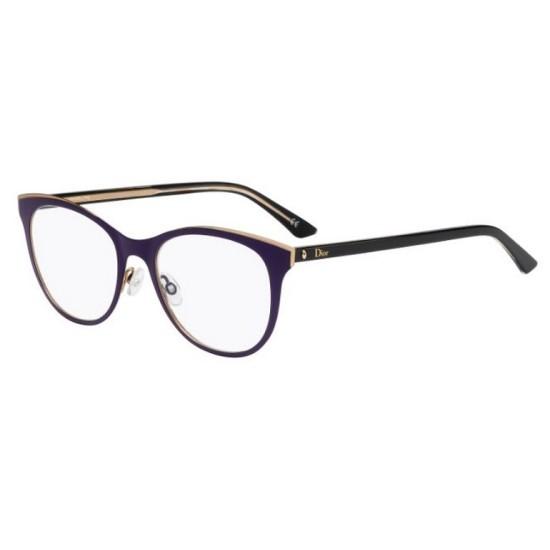 Dior MONTAIGNE13 - MVW Viola - Nero - Oro | Occhiale Da Vista Donna
