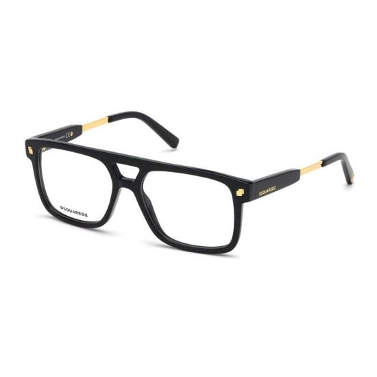Dsquared2 DQ 5268 - 001 Nero Lucido   Occhiale Da Vista Uomo