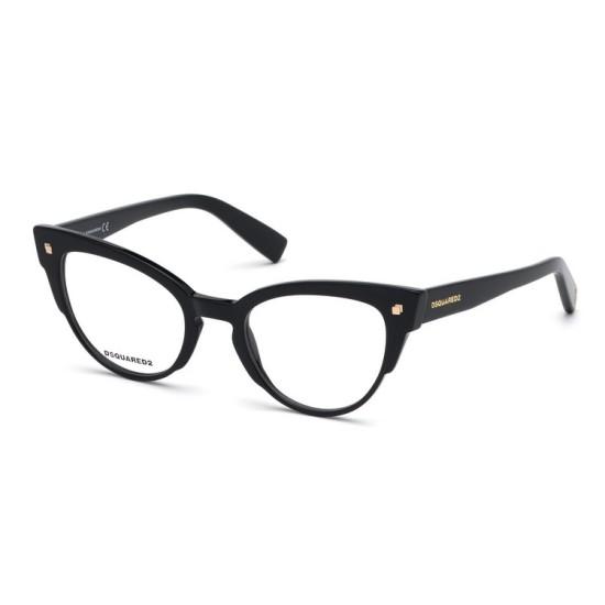 Dsquared2 DQ 5275 - 001 Nero Lucido | Occhiale Da Vista Donna