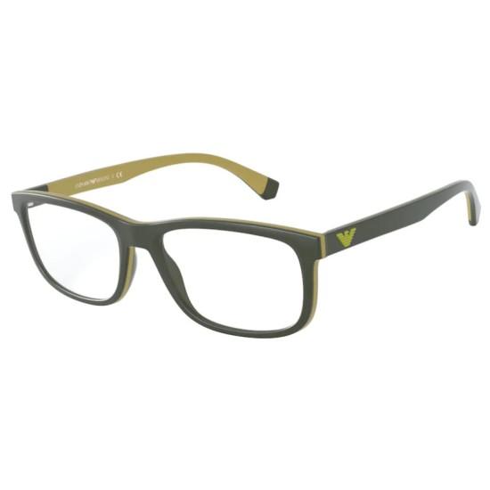 Emporio Armani EA 3164 - 5829 Verde Scuro Opaco | Occhiale Da Vista Uomo