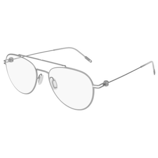 Montblanc MB0001O - 005 Argento | Occhiale Da Vista Uomo