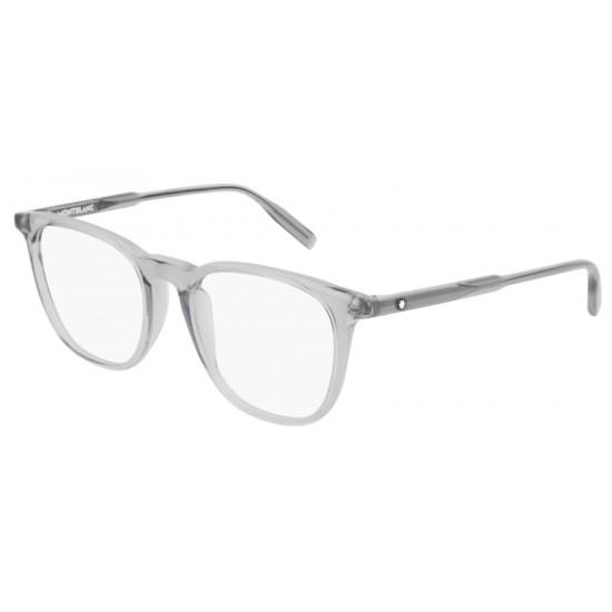 Montblanc MB0010O - 004 Grigio   Occhiale Da Vista Uomo