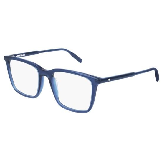 Montblanc MB0011O - 007 Blu | Occhiale Da Vista Uomo
