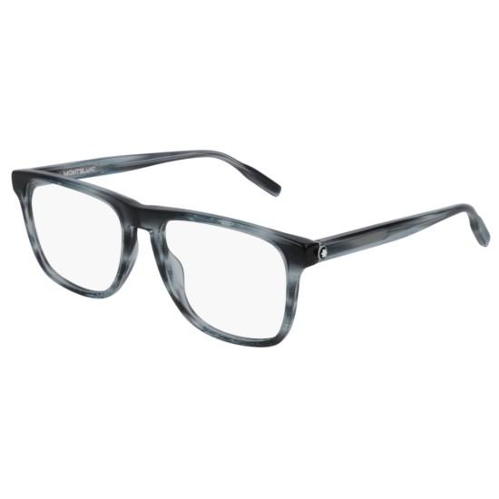 Montblanc MB0014O - 004 Blu   Occhiale Da Vista Uomo